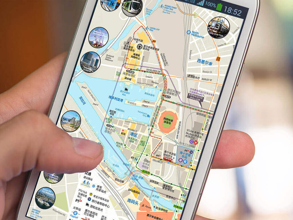 Chinese-Map-On-Mobile